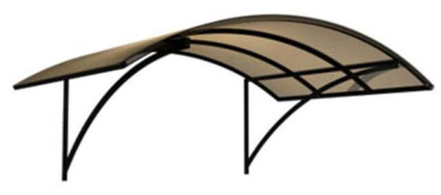Преимущества поликарбоната для козырька над крыльцом