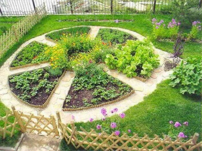 Декоративный огород в виде клумбы
