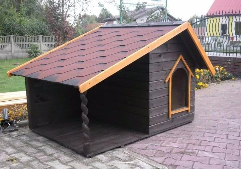 Будка для собаки с односкатной крышей