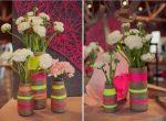 Изготовление ваз и горшков из пластиковых бутылок. Идеи и фото