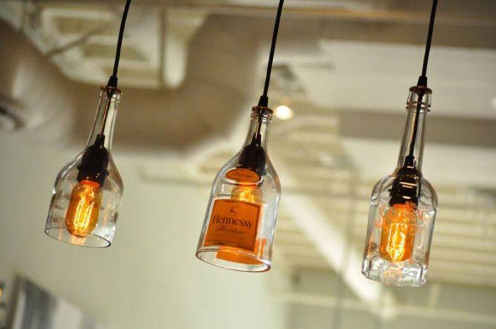 Виды светильников из пластиковых и стеклянных бутылок