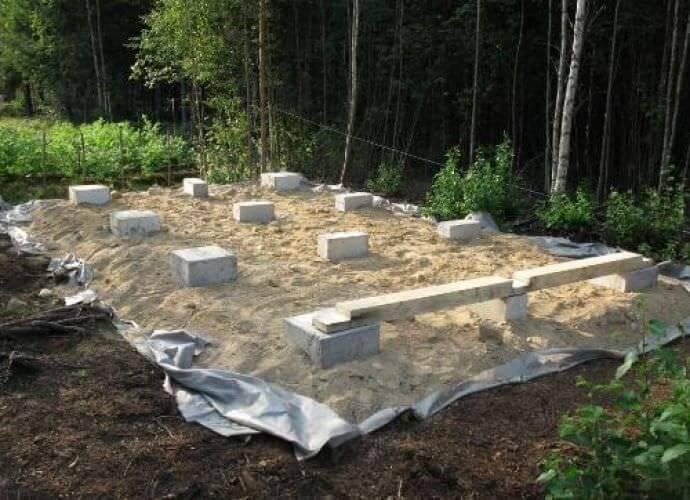 место для строительства бытовки на даче