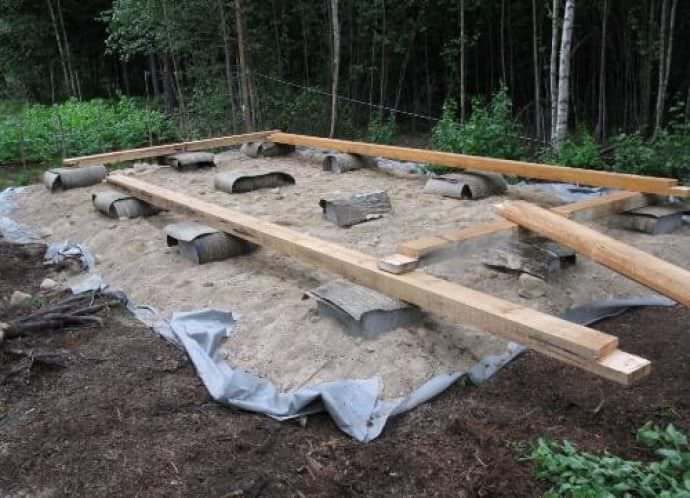 Делаем фундамент для бытовки на даче