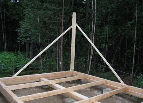 Монтаж вертикальных стоек бытовки