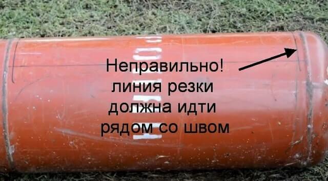 мангал из газового баллона своими руками