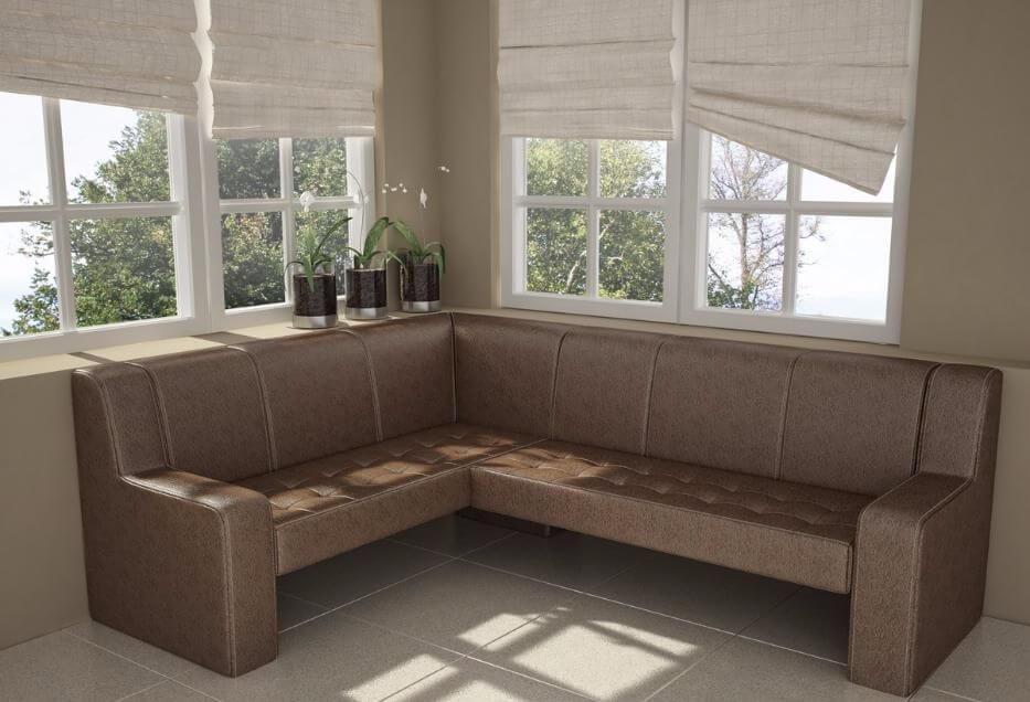 Угловой диван для дачи
