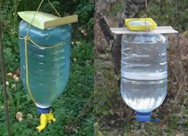 Умывальник из пластиковых бутылок