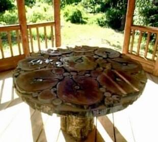 Как сделать удобный и красивый стол для дачи