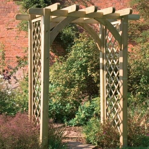 Садовые арки для цветов своими руками