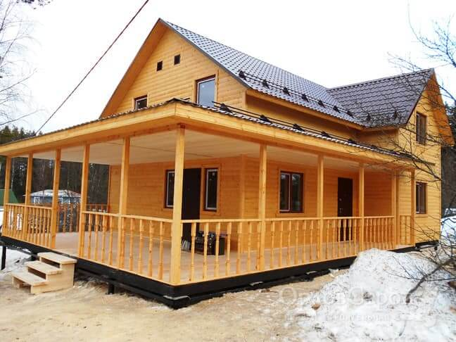 Из чего строят дачные домики