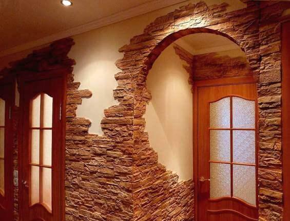 отделка каменными плитками