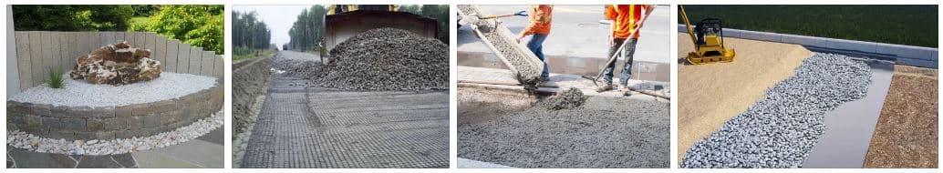 Применение щебня при строительстве