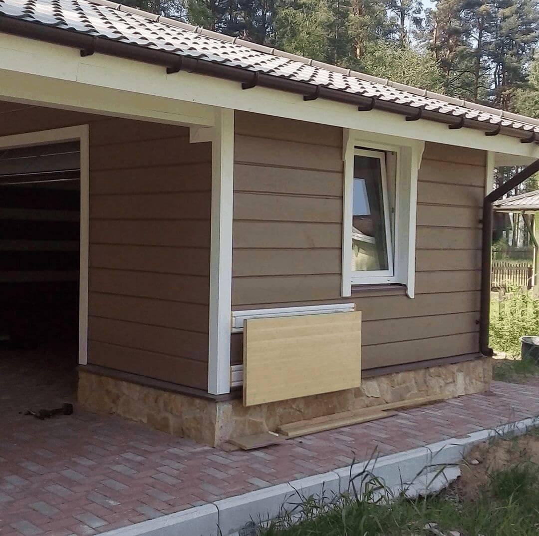 Проекты обустройства гаражей с террасой
