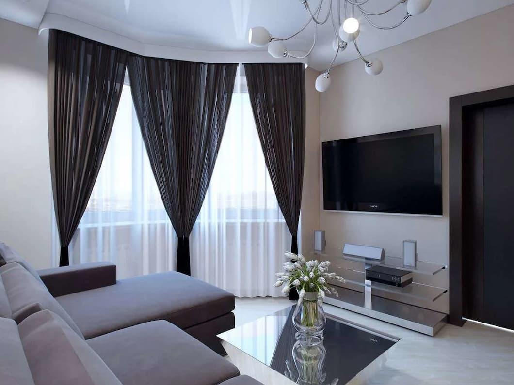 Критерии выбора и пошива штор для гостиной